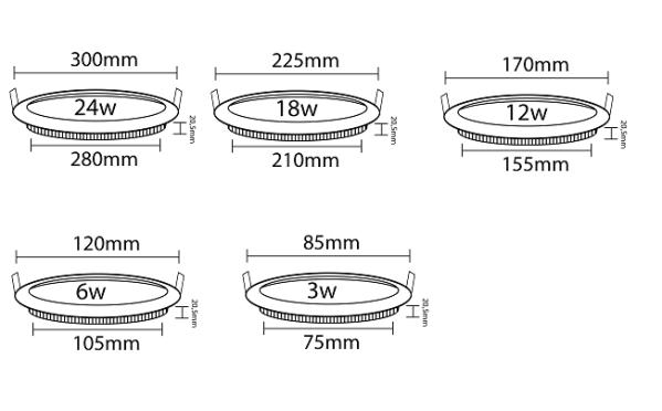 LED Panel Einbaustrahler DeckenLeuchte