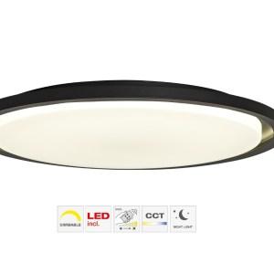 LED Brilliant Briant Zwart Deckenleuchte