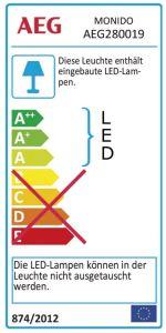AEG Lampe Monido LED Außenwandleuchte