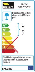 Brilliant LED Arctic Außenleuchte Außenlampe