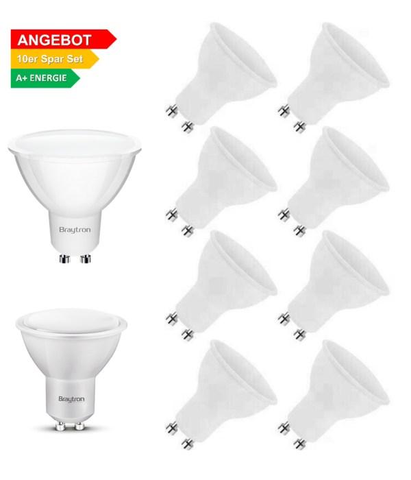 10x GU10 5W LED Leuchtmittel