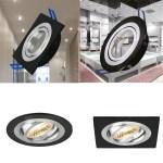LED Einbaustrahler Rahmen Schwenkbar GU10