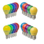 LED Partylampe Bunt Glühbirnen Color E27 – E14 4W