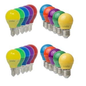LED Partylampe Bunt Glühbirnen Color E27 - E14 4W