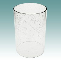 "#5930 - Clear Seeded Glass Cylinder 5 1/8"" x 7 3/4 ..."