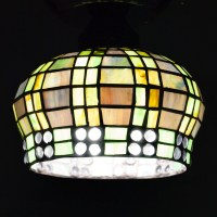 #7603 S - Tiffany Style Basket Shade - Glass Lampshades