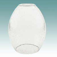 #7916 - Clear Seeded Glass Neckless Shade - Glass Lampshades