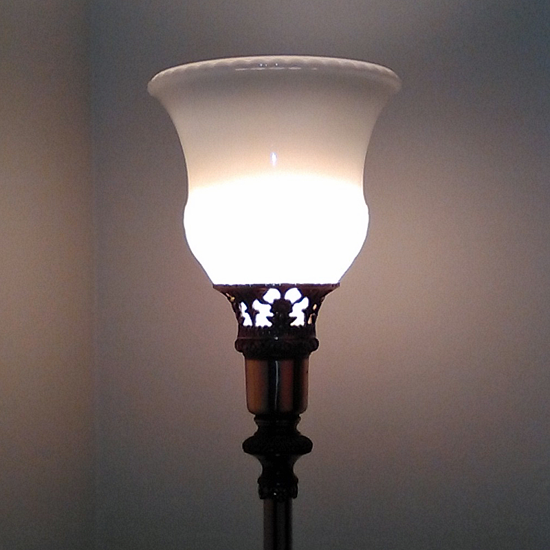 Torchiere Glass Lamp Shades  Pearl Replacement Torchiere