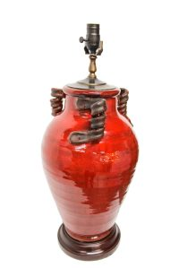 Red Pottery Lamp | The Lamp Shoppe