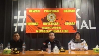 DPD LIN Lampung Gelar Konferensi Pers