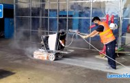 Dịch vụ mài sàn tăng cứng phủ bóng bê tông tại Hải Phòng