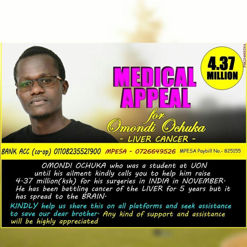 Medical appeal of Omondi Ochuka