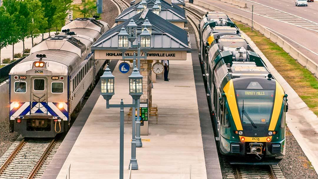 Commuter rail station- Denton county
