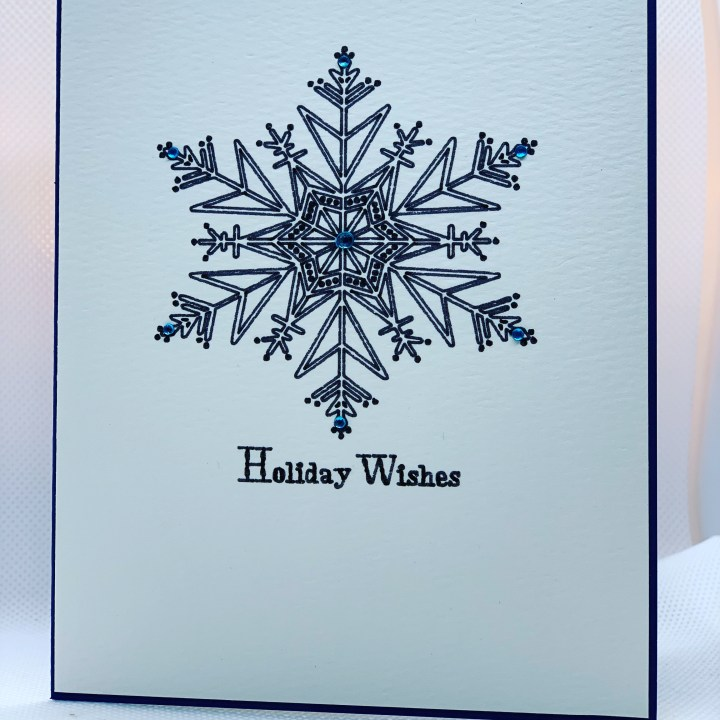 Handmade Holiday Cards elegant snowflake