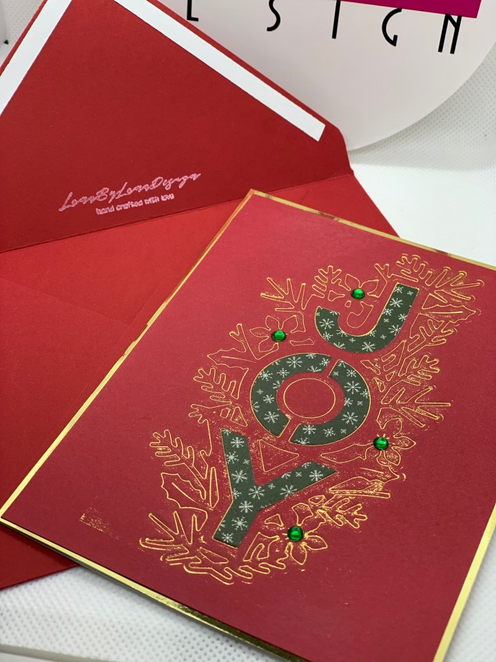 Handcrafted Holiday Cards red and gold