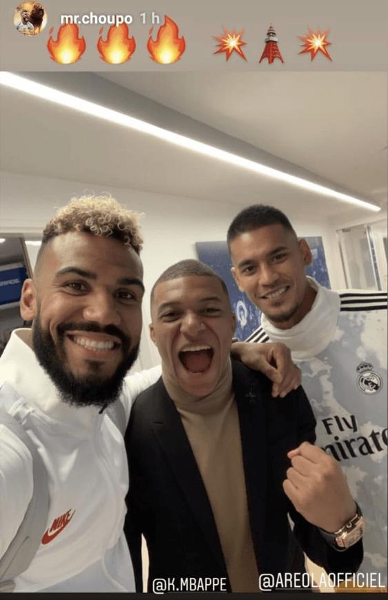 Areola le pide perdón a los hinchas del Real Madrid por su foto con Mbappé y Choupo-Moting