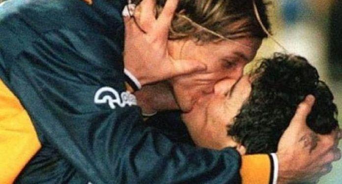Diego Maradona y Claudio Caniggia hicieron de esta celebración, un clásico. (Gráfico)