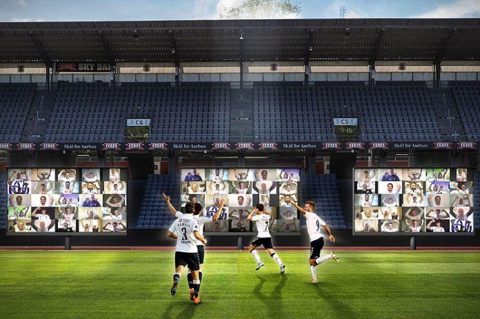 Dinamarca estrena la primera grada virtual: prohibido insultar al futbolista desde el sofá