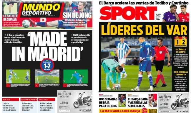 Escándalo en España ´por penal a favr del Madrid