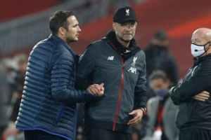Lampard y Klopp protagonizaron una discusión durante el partido Fuente: AFP
