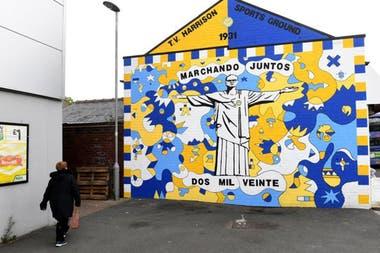 El mural dedicado a Bielsa en Oldfield Lane, Wortley, Leeds.