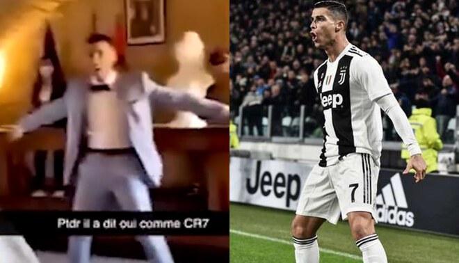 Facebook: novio da el 'sí' en el altar al estilo de Cristiano Ronaldo