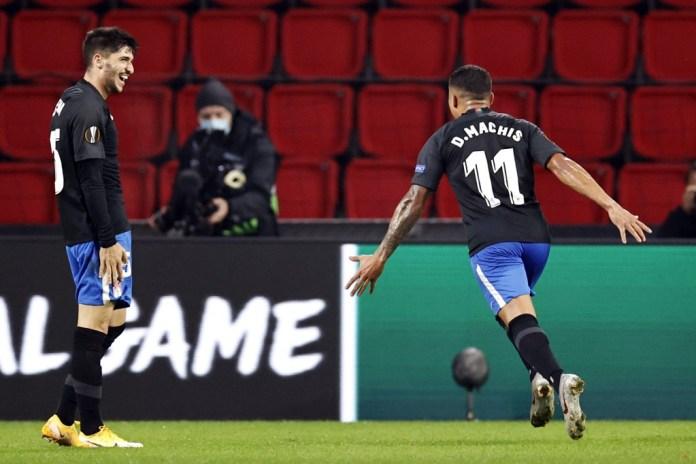 Un golazo de Machís dio al Granada su primera victoria en Europa League