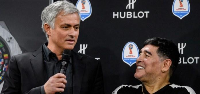 Mourinho reveló el gran gesto que Maradona tenía con él en las derrotas importantes