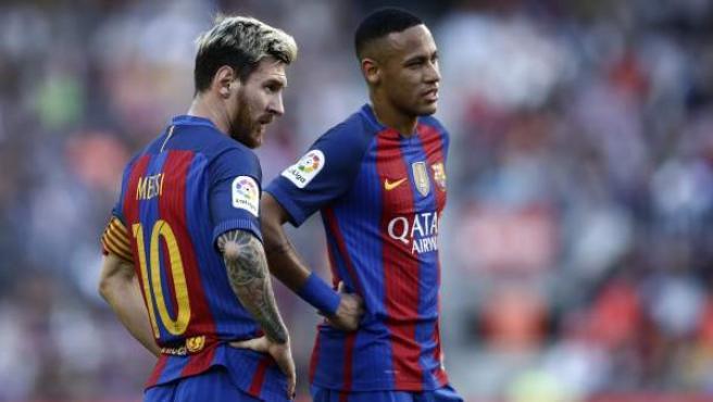 Messi y Neymar en la etapa del brasileño en el Barça.GTRES