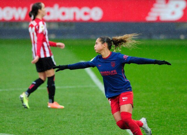 Deyna Castellanos hizo golazo con la pierna izquierda con el Atlético de Madrid