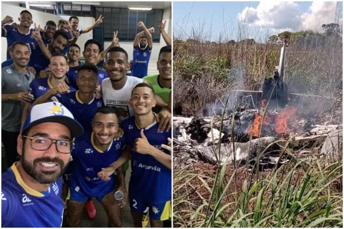 Cuatro jugadores y el presidente de un club de fútbol de Brasil murieron en un accidente aéreo