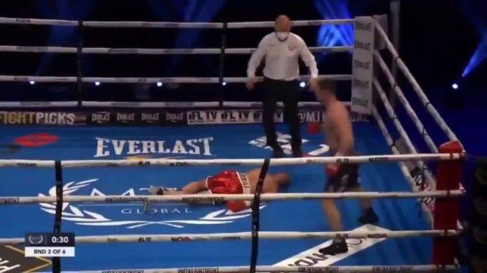 Pierce O'Leary conectó un gancho que dejó inconsciente a su rival