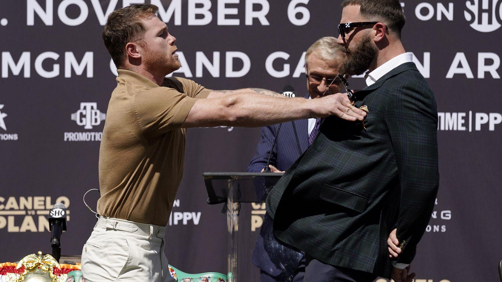 """Plant y """"Canelo"""" Álvarez intercambiaron golpes antes de su pelea de noviembre"""