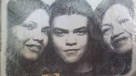 Neyla y Javier adolescentes con Nilda
