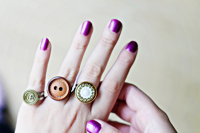 Upcycling Diy  Button Rings