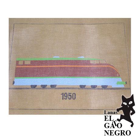 cañamazo tren 1950