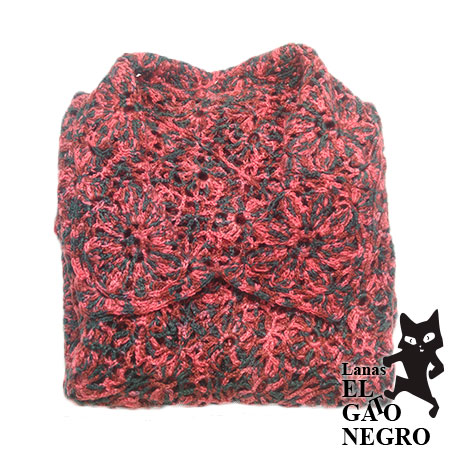 Chaqueta de perle roja