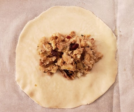 turkey stuffing empanada
