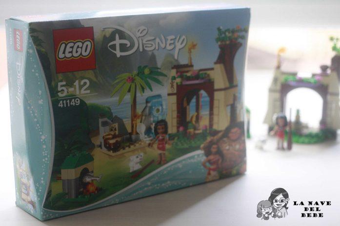 foto de la caja LEGO Disney del set de vaiana (la casa con Pua, Vaiana y el corazón de tefiti)