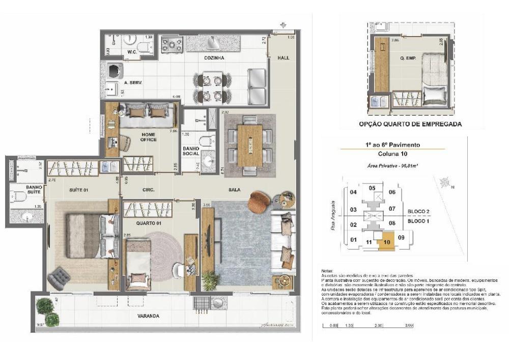 Apartamento 3 quartos c/ suíte