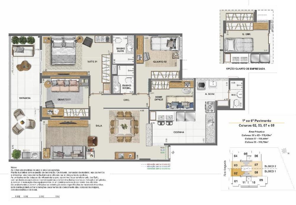 Apartamento 4 quartos c/suíte