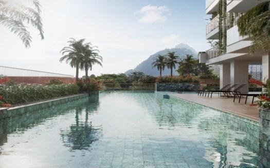 vista da piscina quadrilatero botafogo