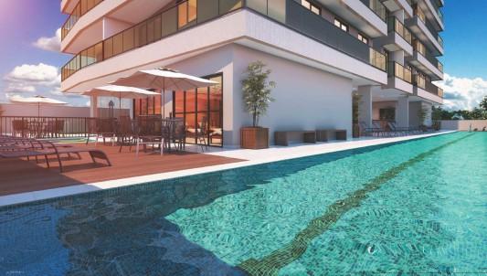piscina com raia de 25 metros