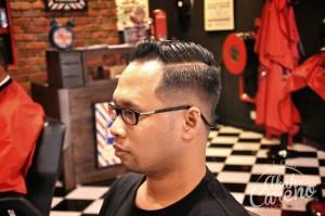 Teruja dengan konsep hipster di Edd The Barber Ampang