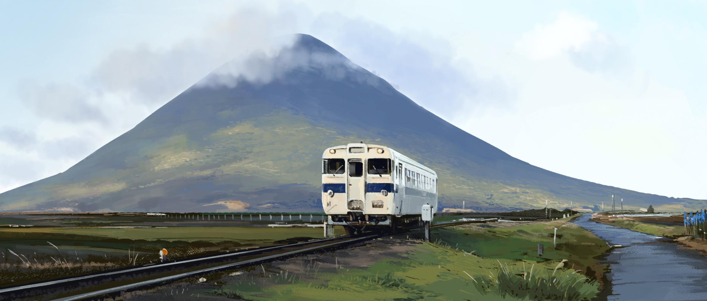 Melawat gunung berapi Kaimondake di Kagoshima.