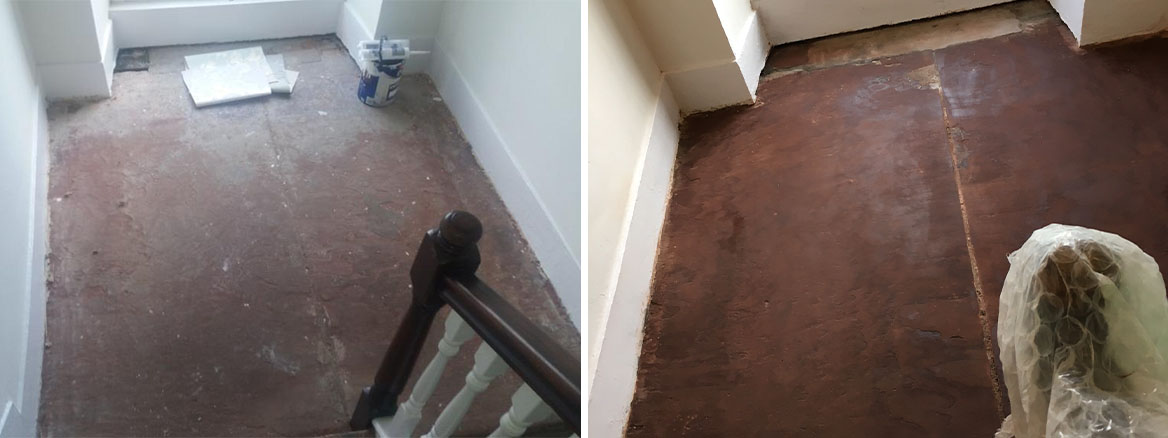 Red Jurassic Sandstone Landing Before and After Sealing