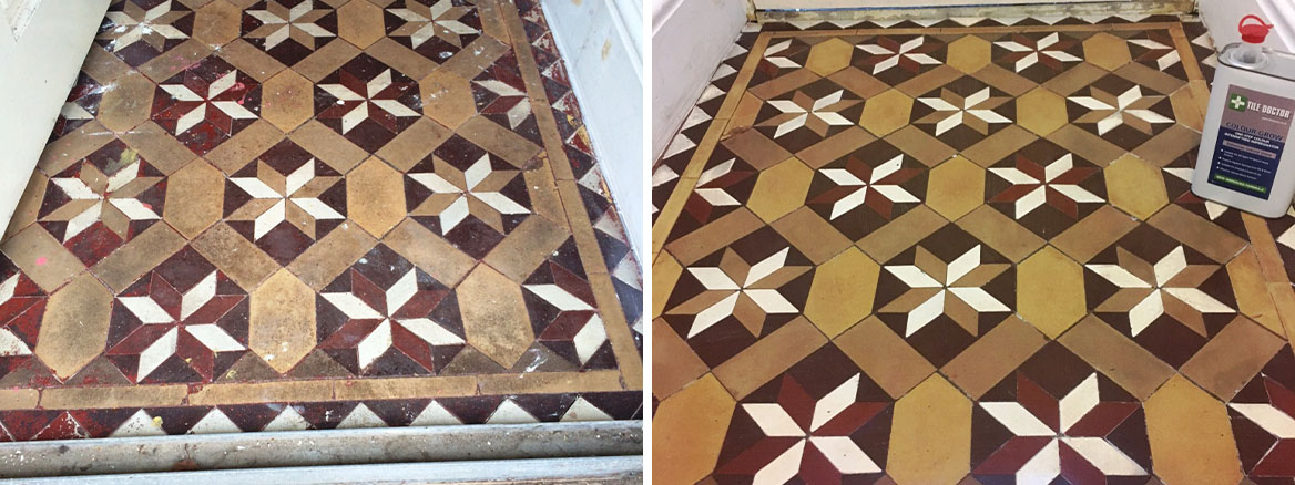 Victorian floor Tile Vestibule Lancaster Before and After