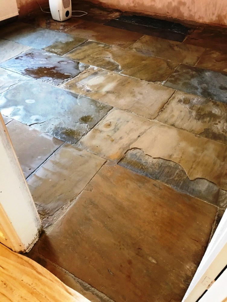 Flagstone Floor After Restoration Morecambe
