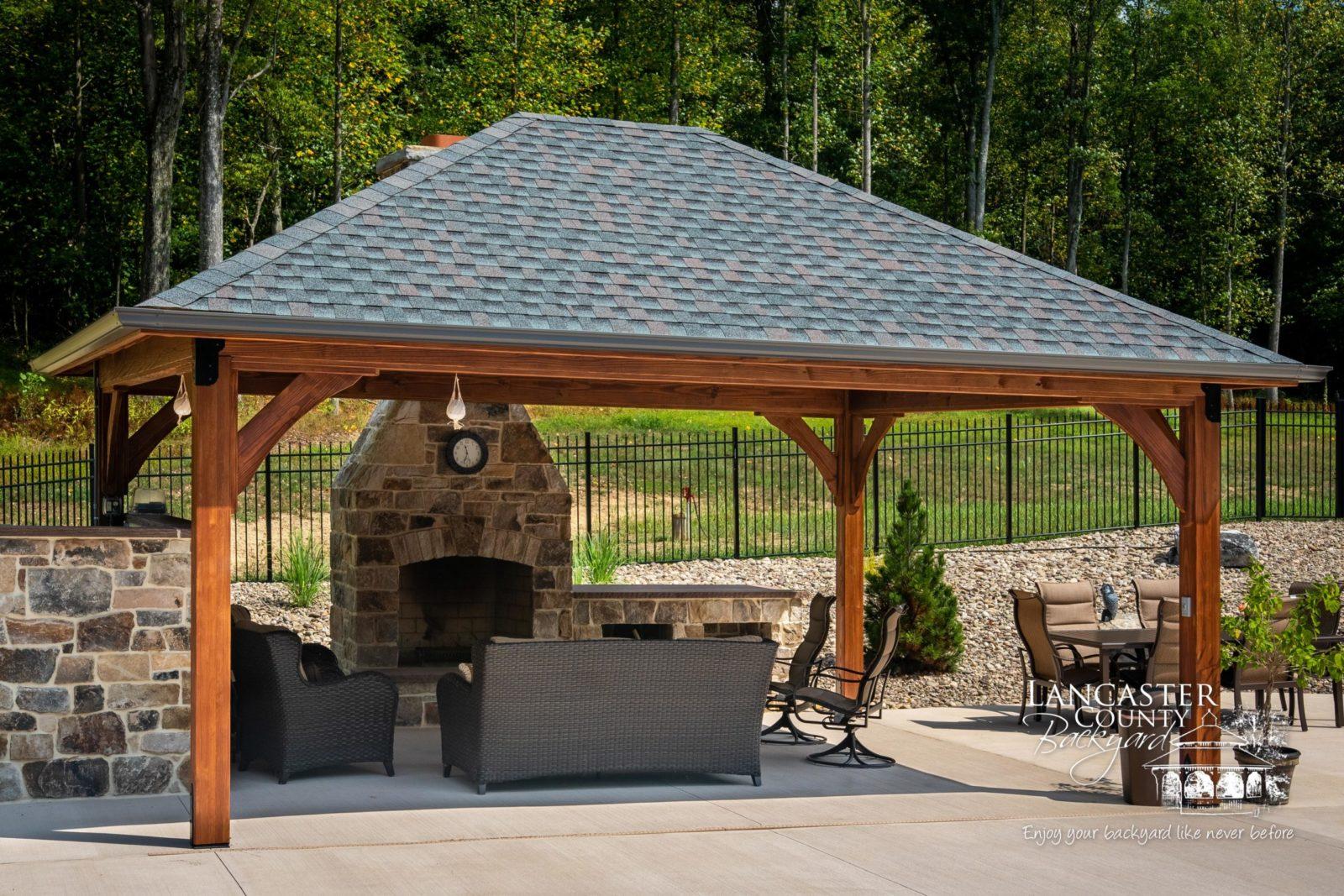 amish built outdoor pavilions a