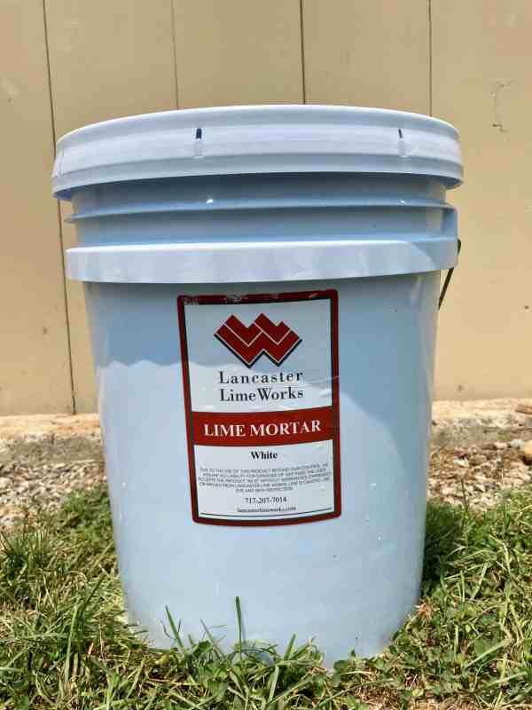 5 Gal White Lime Mortar Mix
